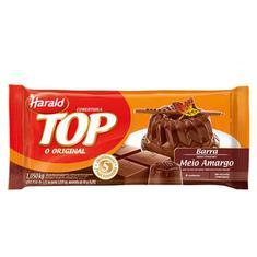 Cobertura de Chocolate Harald Top Meio Amargo 1,050Kg