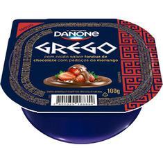 Iogurte Grego Morango e Chocolate Danone 100g