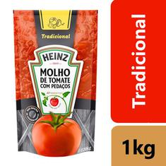Molho de Tomate Tradicional Heinz Sachê 1,020kg