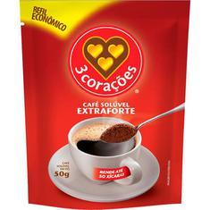 Café Solúvel Extra Forte 3 Corações 50g