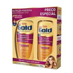 Kit Shampoo + Condicionador Niely Gold Nutrição Poderosa 300+200ml
