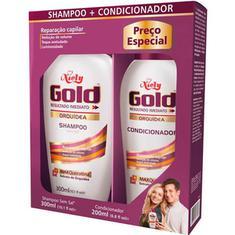 Kit Shampoo + Condicionador Niely Gold Orquidea 300+200ml