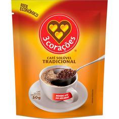 Café Solúvel 3 Corações 50g