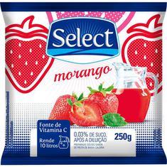 Refresco em Pó Sabor Morango Select 250g