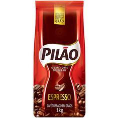 Café Pilão Espresso torrado em grãos sachê 1kg
