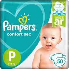 Fralda Confort Sec Pampers P 50un