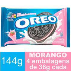 Biscoito Recheado Sabor Milkshake de Morango Oreo 144g