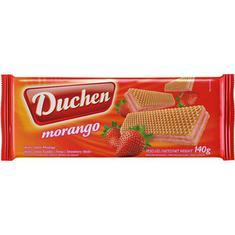 Biscoito Wafer Duchen Morango 140g