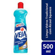 Limpador Veja Limpa Vidros Vidrex Bio-Álcool 500ml