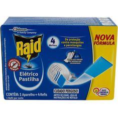 Inseticida Raid Protector Aparelho + 4 Pastilha