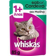 Alimento para Gatos sabor Cordeiro Sachê Whiskas 85g