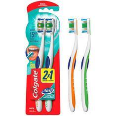 Escova Dental Colgate 360 Graus Macia Leve 2 e Pague 1