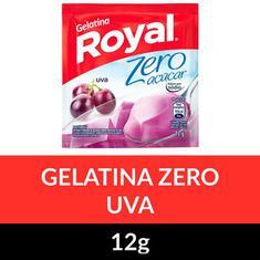 Gelatina em Pó Zero Royal Uva 12g