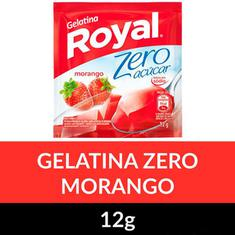 Gelatina em Pó Zero Royal Morango 12g