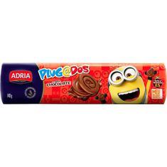 Biscoito Recheado Sabor Chocolate Plugados Adria 140g
