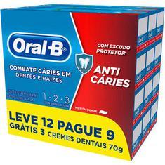 Creme Dental Oral B 1-2-3 Leve 12 e Pague 9 70g