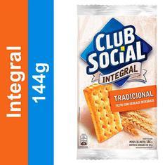 Biscoito Salgado Integral Club Social 144g