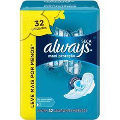 Absorvente Always Maxi proteção Seca com abas 32 Unidades