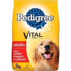 Ração para Cães sabor Carne Frango e Cereais Pedigree 3kg