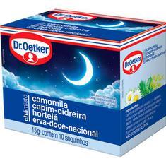 Chá de Camomila Capim Cidreira Hortelã e Erva Doce Dr. Oetker 15g