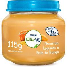 Papinha Sabor Peito de Frango com Legumes e Macarrão Nestlé 115g