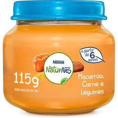 Papinha Sabor Carne Legumes e Macarrão Nestlé 115g