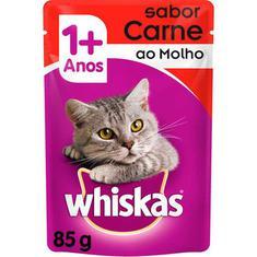 Alimento para Gatos sabor Carne Sachê Whiskas 85g