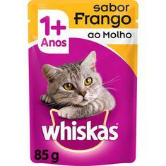 Alimento para Gatos sabor Frango ao Molho Sachê Whiskas 85g