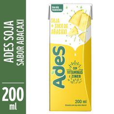 Bebida de Soja Sabor Abacaxi Ades 200ml