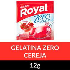 Gelatina Pó Zero Royal Cereja 12g