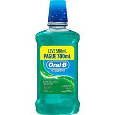 Solução Bucal Oral B Hortelã Leve 500ml e Pague 300ml