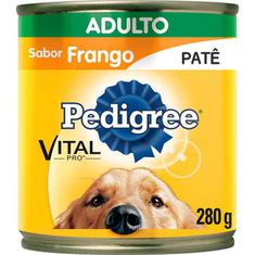 Alimento para Cães sabor Frango Patê Pedigree Lata 280g