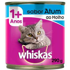 Alimento para Gatos sabor Atum ao Molho Whiskas Lata 290g