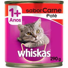 Alimento para Gatos sabor Carne Patê Whiskas Lata 290g