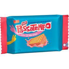 Mini Wafer Recheado Sabor Morango Passatempo Nestlé 20g