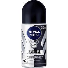 Desodorante Roll On Nivea Men Invisible Black & White 50ml