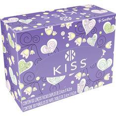 Lenço de Papel Kiss Folha Dupla 100 unidades