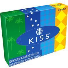 Lenço de Papel Kiss Folha Dupla 50 unidades