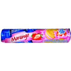 Biscoito Recheado Sabor Morango Visconti 125g