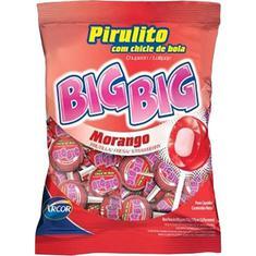 Pirulito Morango Big Big 600g