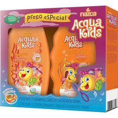 Kit Shampoo e Condicionador Infantil Acqua Kids Cacheados 250ml