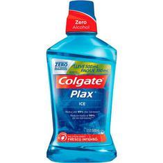 Enxaguante Bucal Colgate Plax Ice Leve 500ml Pague 350ml