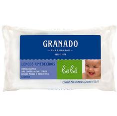 Lenço de Papel Umedecido Granado Bebê Tradicional 50 unidades