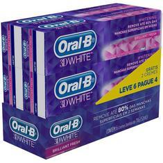 Creme Dental 3D White Brilliant Fresh Oral-B 70g Leve 6 Pague 4