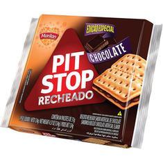 Biscoito Recheado Sabor Chocolate Pit Stop Marilan 124g