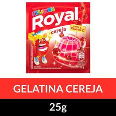 Gelatina Pó Royal Cereja 25g