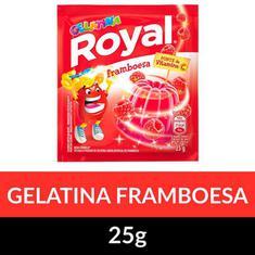 Gelatina Pó Royal Framboesa 25g