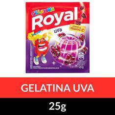 Gelatina Pó Royal Uva 25g