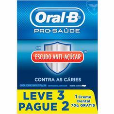 Creme Dental Pro-Saúde com Escudo Anti-Açúcar Oral-B 70g Leve 3 Pague 2