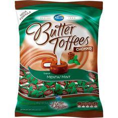 Bala Arcor Butter Toffees Chokko Menta 600g